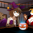 halloweenpartyflirtying_color