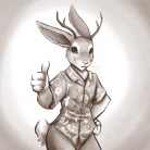 Jackalope in Hawaiian Shirt